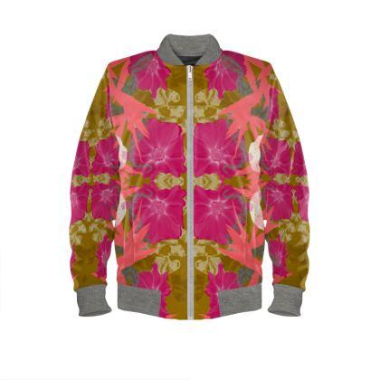 ladies bomber jacket tropical