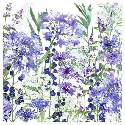 Agapanthus Meanderings Luxury Cushion