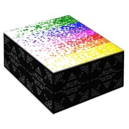Rainbow Pixels - Jewellery Box