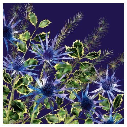 Midnight Holly Bouquet Luxury Cushion