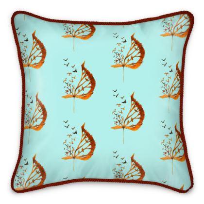 'Bird flight' Silk Cushion