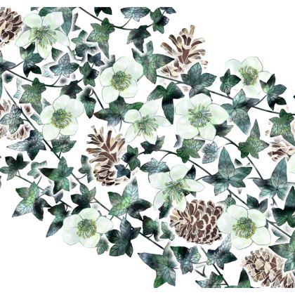 Christmas Rose Garland Luxury Cushion