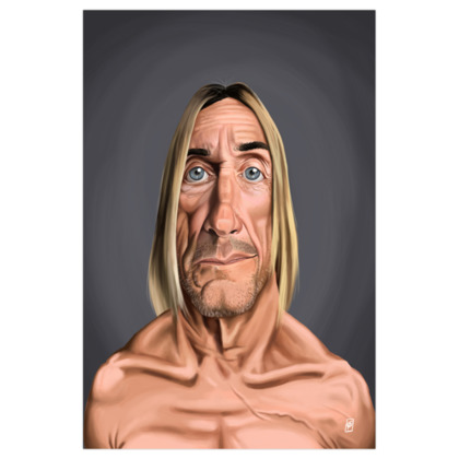 Iggy Pop Celebrity Caricature Art Print