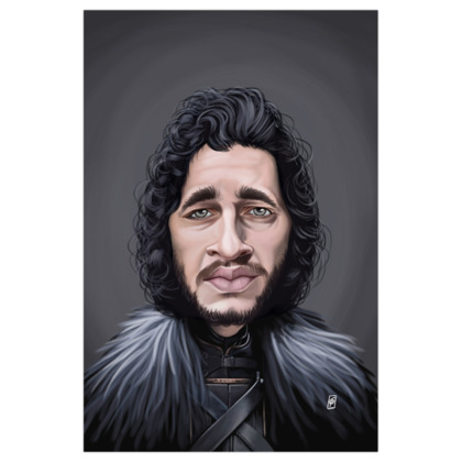 Kit Harington Celebrity Caricature Art Print