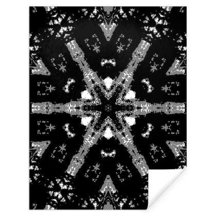 Black and white snow flake.