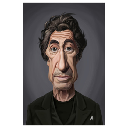 Al Pacino Celebrity Caricature Art Print