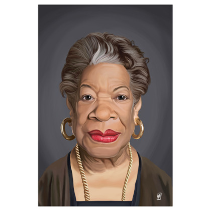Maya Angelou Celebrity Caricature Art Print