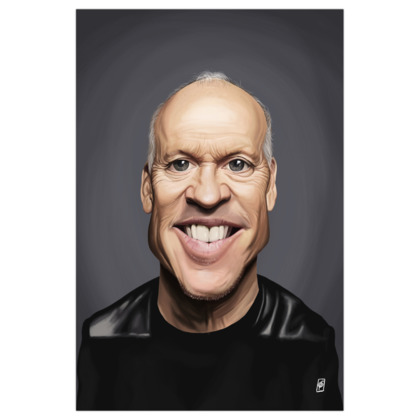 Michael Keaton Celebrity Caricature Art Print