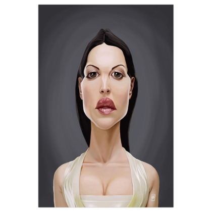 Monica Belluccii Celebrity Caricature Art Print