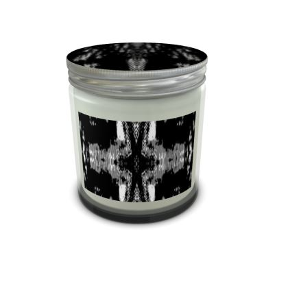 Black and white candle in jar set