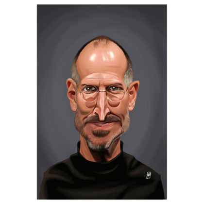 Steve Jobs Celebrity Caricature Art Print