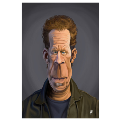 Tom Waits Celebrity Caricature Art Print