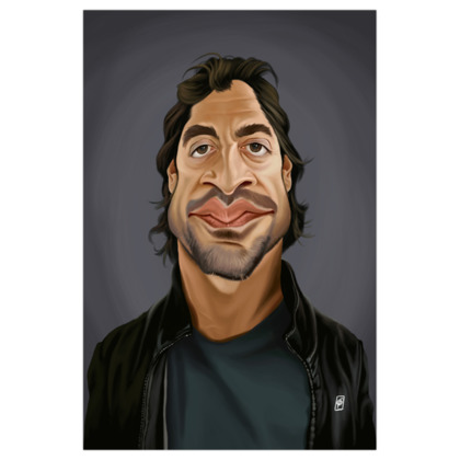Javier Bardem Celebrity Caricature Art Print