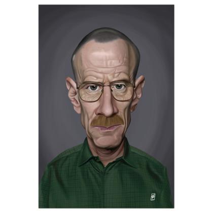 Bryan Cranston Celebrity Caricature Art Print