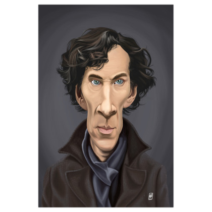 Benedict Cumberbatch Celebrity Caricature Art Print