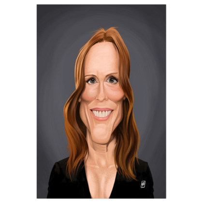 Julianne Moore Celebrity Caricature Art Print