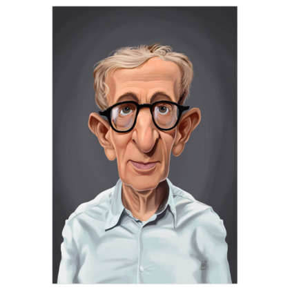 Woody Allen Celebrity Caricature Art Print