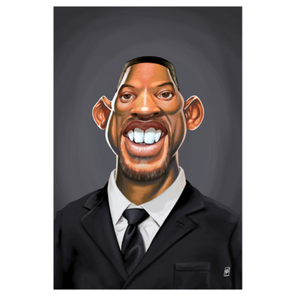 Will Smith Celebrity Caricature Art Print