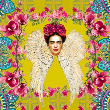 Frida Kahlo's Angel - yellow