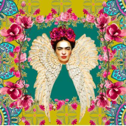 Frida Kahlo's Angel - Teal