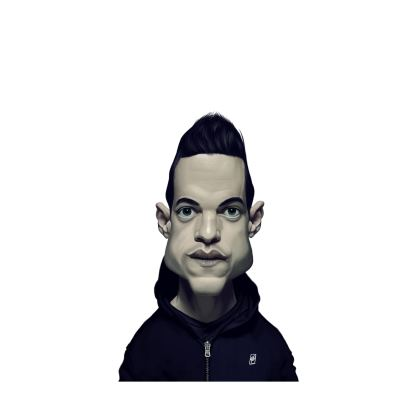 Rami Malek Celebrity Caricature Ladies Cut and Sew Vest