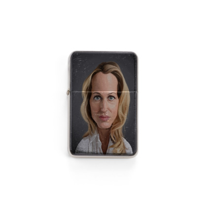 Gillian Anderson Celebrity Caricature Lighter