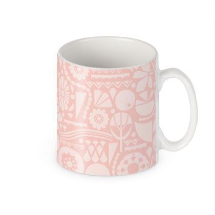 Eclectic Garden Pink Builders Mugs