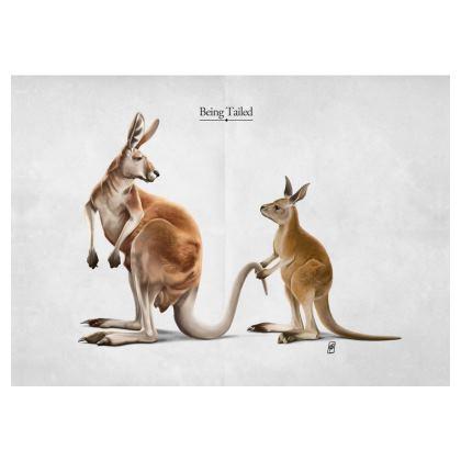 Being Tailed ~ Title Animal Behaviour Art Postcard