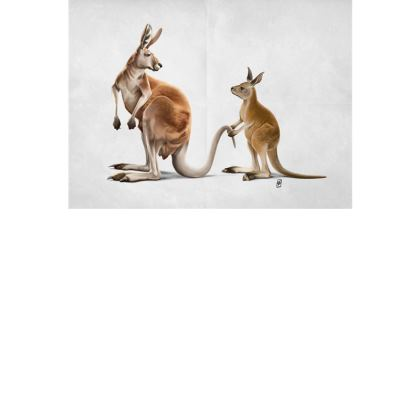 Being Tailed ~ Wordless Animal Behaviour Art Postcard