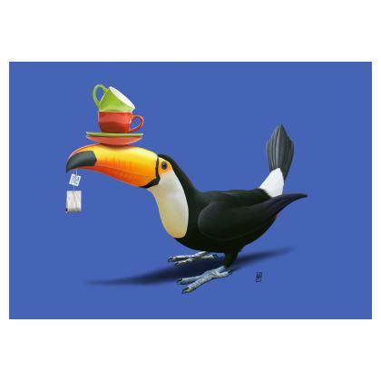 Tea for Tou ~ Colour Animal Behaviour Art Postcard