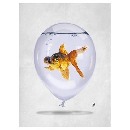 Inflated ~ Wordless Animal Behaviour Art Postcard