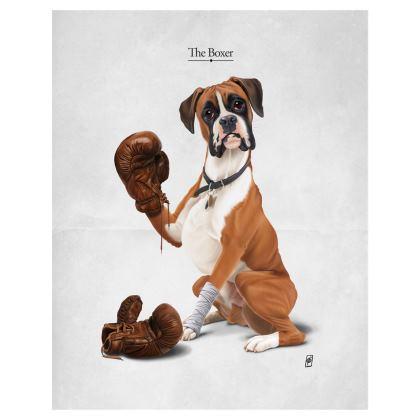 The Boxer ~ Title Animal Behaviour Art Postcard