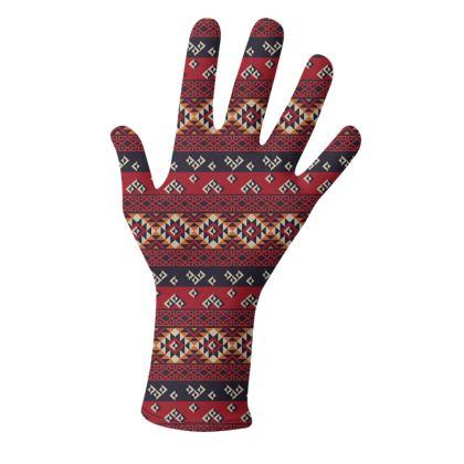 Gloves Mayan Patterns