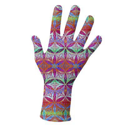 Gloves Flower Of Life Pattern