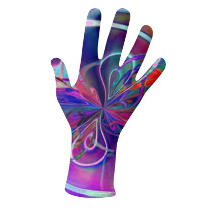 Gloves Abstract Purple Flower