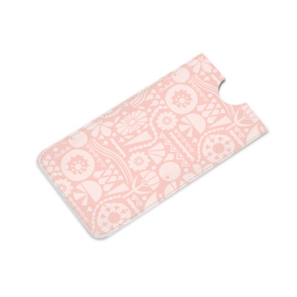 Eclectic Garden Pink Leather iPhone 6 Plus Case