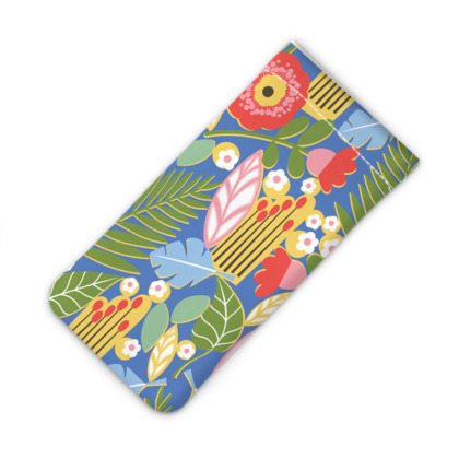 Paradise House Tropical Floral Blue iPhone Slip Case
