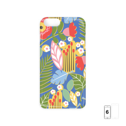 Paradise House Tropical Floral Blue iPhone 6 Case
