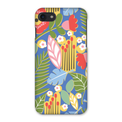 Paradise House Tropical Floral Blue iPhone 7 Case