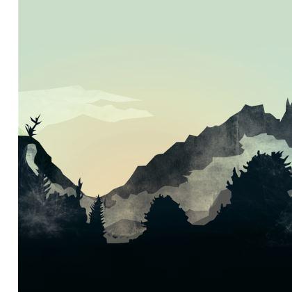 Misty Mountain Skater Dress