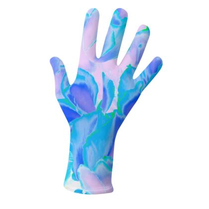 Gloves Blue Ciclamen Flower