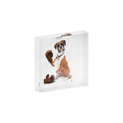 The Boxer ~ Title Animal Behaviour Acrylic Photo Blocks