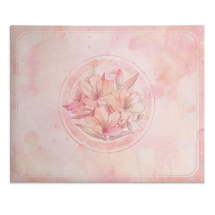 Pink floral bouquet - Desk pad