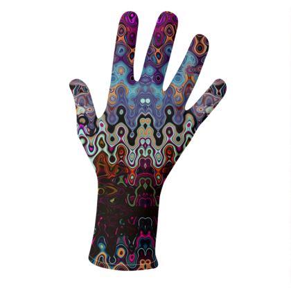 Gloves Brown Splashes