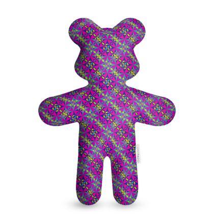 Teddy Bear Purple Arabesque Pattern