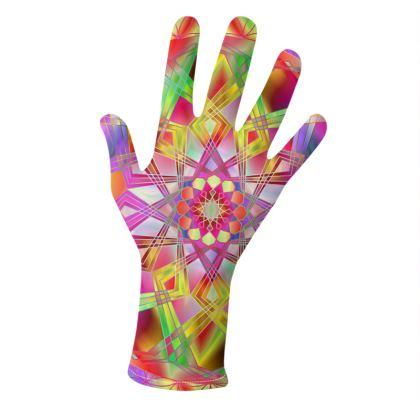 Gloves Rainbow Mandala