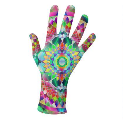 Gloves Colorful Mandala