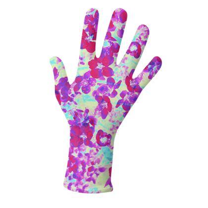 Gloves Spring Flowers