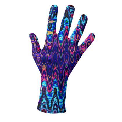 Gloves Purple Splashes