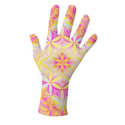 Lycra Gloves Kaleidoscope Flower Of Life